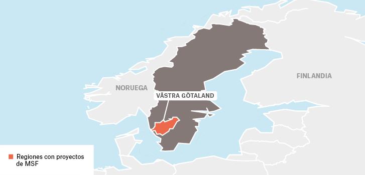 Proyectos de Médicos sin fronteras en Suecia : Västra Götaland  Finlandia  Ciudades o poblaciones donde trabajamos