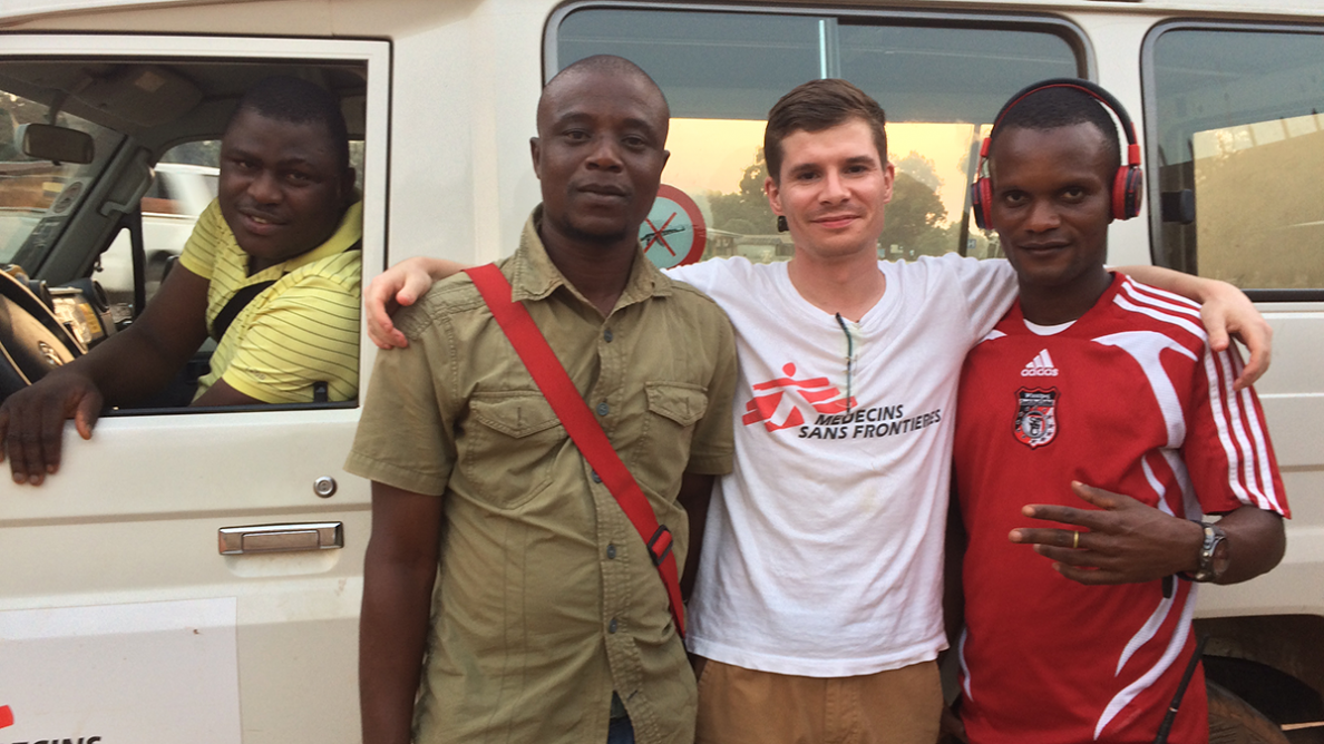 Parte del equipo de Mile 91, en Sierra Leona: Sammy, Oosman, Chris y Abdul.
