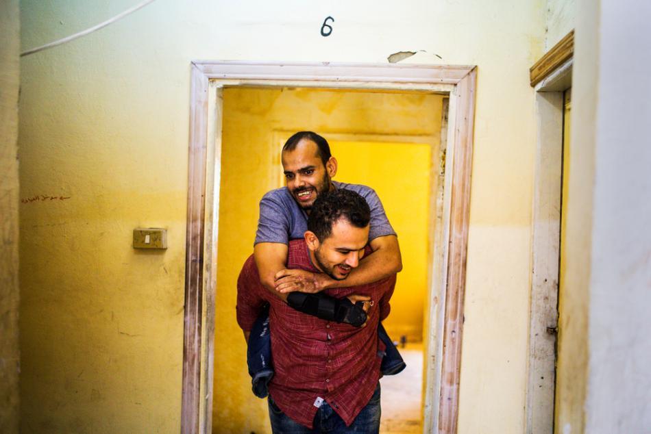 Qatada, Paciente del hospital de cirugía reconstructiva de MSF en Amman, Jordania. ©Alessio Mamo