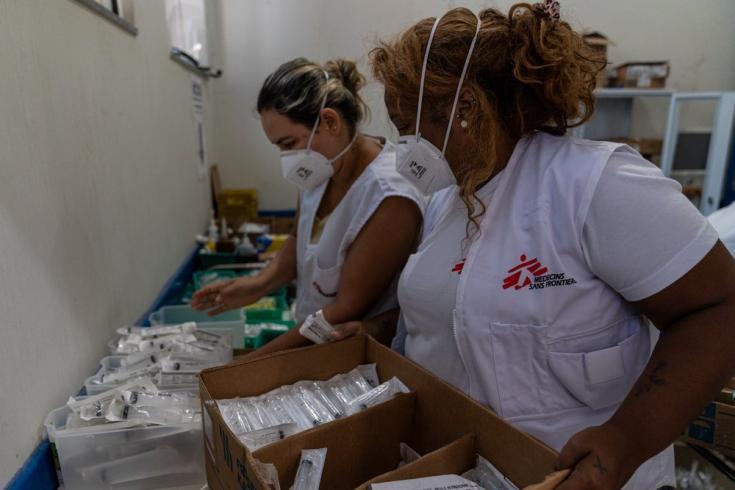 En Xique Xique, así como en otras zonas rurales del estado de Bahía, nuestros equipos están llevando adelante una estrategia descentralizada con pruebas rápidas de antígenos para COVID-19. Brasil, junio de 2021