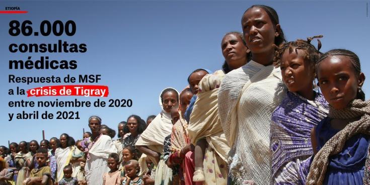 Entre noviembre y abril, realizamos 86.000 consultas médicas para responder a la crisis de Tigray