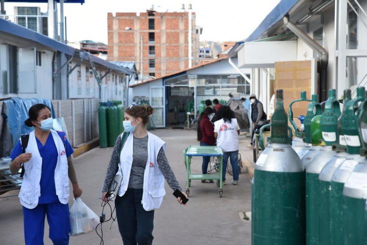 Hospital Antonio Lorena en Cusco, al cual brindamos apoyo a través de capacitaciones, suministros y apoyo técnico en la atención a pacientes con COVID-19. Perú, junio de 2021