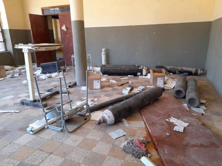Interior del Hospital de Selekleka en Tigray. Hoy en día, el hospital está cerrado y no puede funcionar, lo que deja un gran vacío en las necesidades de la población local. 01/02/2021