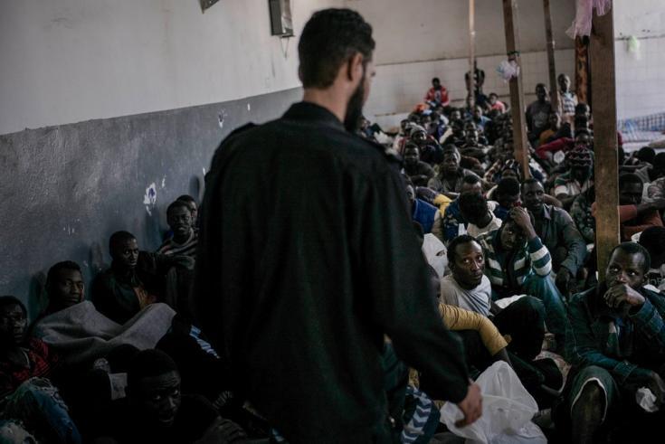 Centro de detención de Abu Salim, en Trípoli, Libia. Marzo de 2017