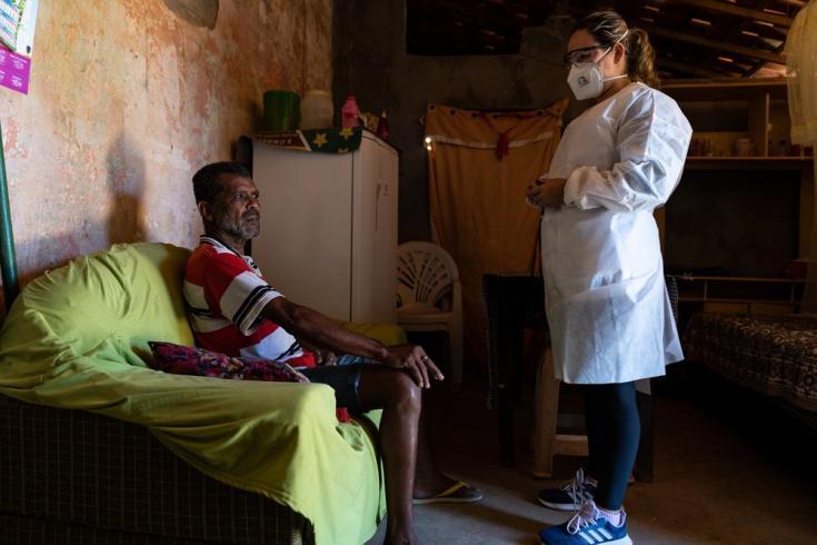 Visitamos a un paciente de COVID-19 en Xique Xique, Bahía. Brasil, junio de 2021