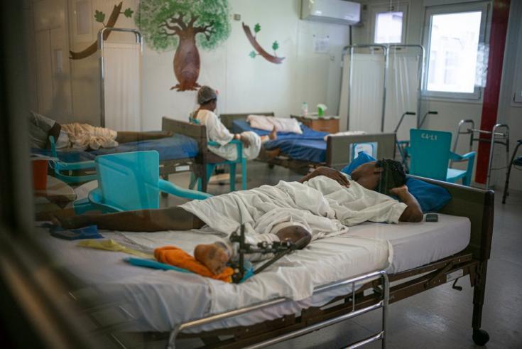 Sala de hospitalización postoperatoria para pacientes mujeres en nuestro hospital de Tabarre. Haití, diciembre de 2020