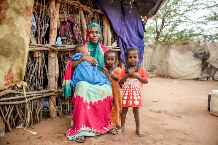 Idilio Boro Amiin, de 20 años, vivió toda su vida en el campo de refugiados de Dagahaley y fue diagnosticada con diabetes tipo 1 a los 9 años. Sus tres hijos también nacieron en el campo. Kenia, mayo de 2021