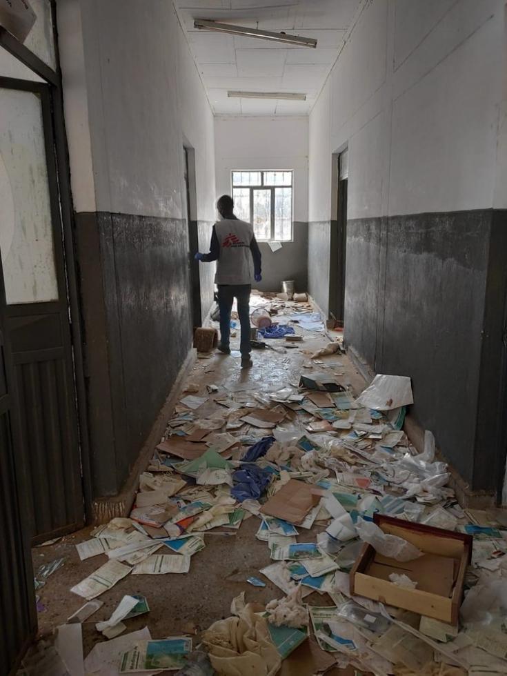 Centro de salud vandalizado en May Kuhl. 12/03/2021