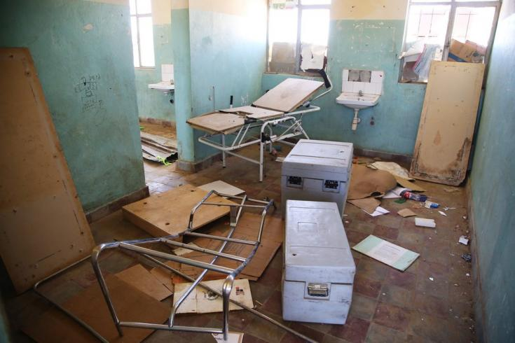 Puesto de salud saqueado y parcialmente destruido en Adiftaw, Tigray, Etiopía. Marzo de 2021