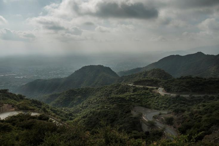 La vista de la ciudad de Alamata desde la carretera que se dirige al norte hacia Korem, Etiopía, el 8 de diciembre de 2020.