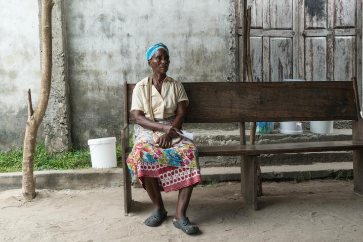 Sobreviviente del ciclón en Mozambique
