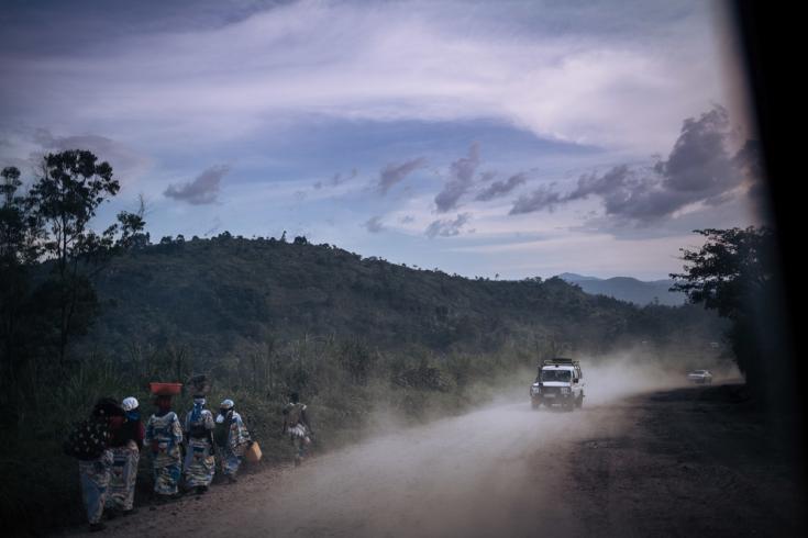 Camioneta de Médicos Sin Fronteras en República Democrática del Congo
