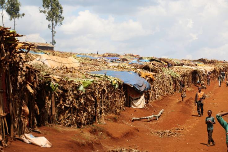 Campo de desplazados por la violencia en Etiopía