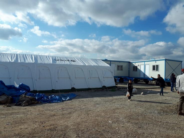 Campo de refugiados en el noroeste de Siria