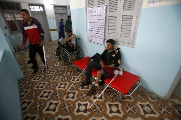 Hospital de Médicos Sin Fronteras en la Franja de Gaza