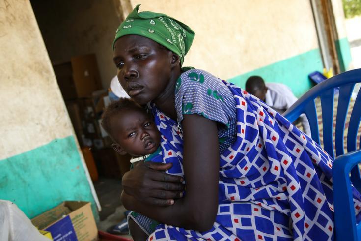 Madre de nueve hijos en zona remota de Sudán del Sur