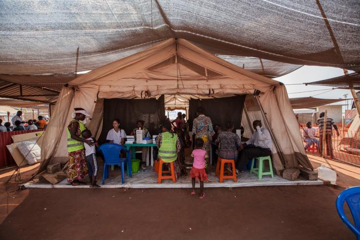 Fotografía de la clínica de Médicos Sin Fronteras en Cacanda, Angola donde atendemos a aquellas personas que han huido de Kasai, República Democrática del Congo