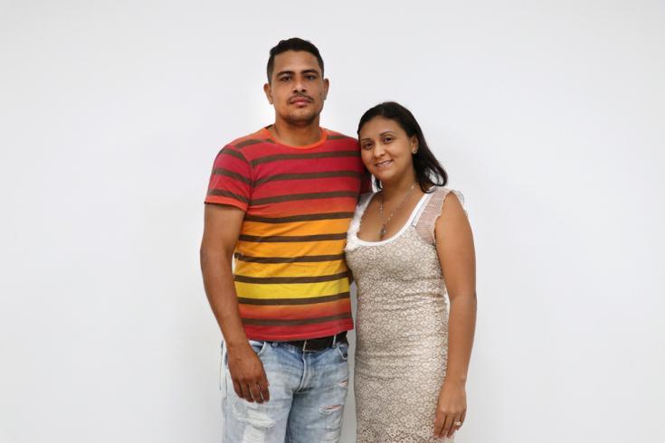 Liziani Cubillán y su esposo Jesús Apalmo, llegaron a Tibú (Venezuela) a causa de la crisis económica y en busca de ayuda médica.