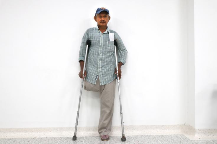 Fredy Flores tiene 62 años y vive en Tibú (Venezuela) hace un año y medio. Era pintor, albañil y conductor, pero tuvo un accidente y no volvió a conseguir trabajo.