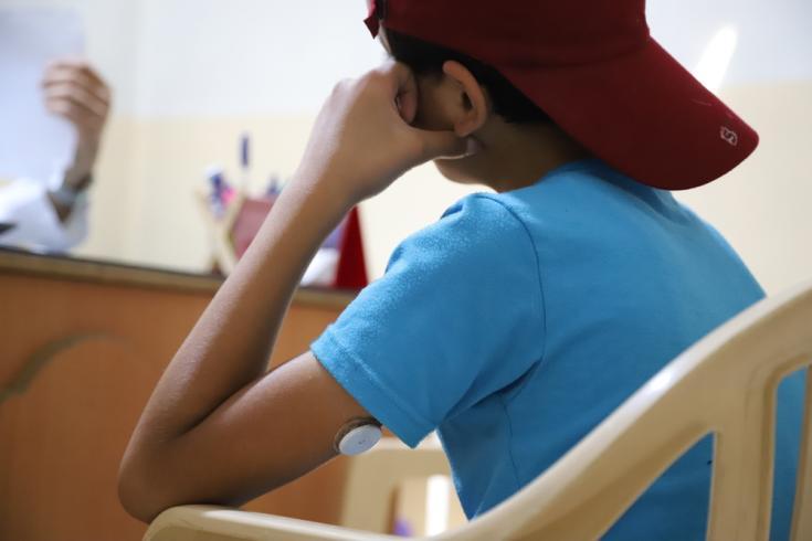 Bashar tiene 15 años y padece diabetes tipo I. Acude a la clínica de Médicos Sin Fronteras en Aarsal desde hace dos años.