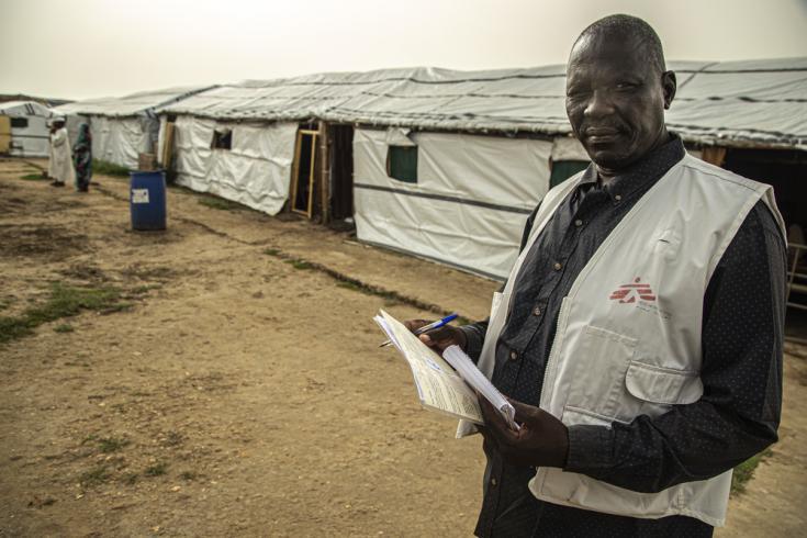 Yumo Arop es el supervisor del programa de tuberculosis y VIH de MSF en el estado del Nilo Blanco, Sudán.