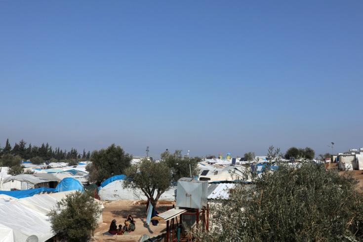 El campo de Qadimoon, en el noroeste de Siria. Febrero de 2020.