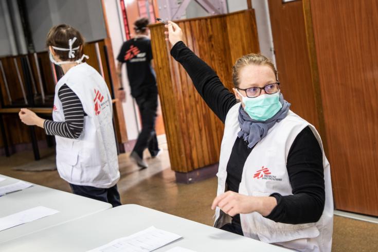 Equipo de Médicos Sin Fronteras trabaja en Francia apoyando en la respuesta al nuevo coronavirus COVID-19.
