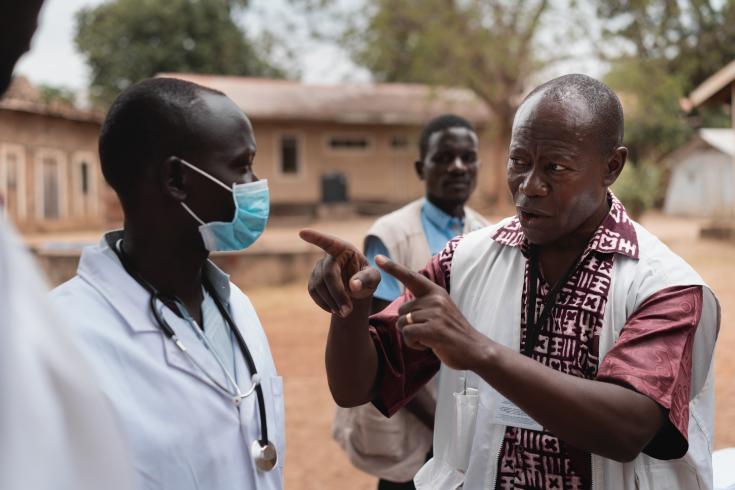 Actividades de promoción de la salud en Sudán del Sur, abril 2020.