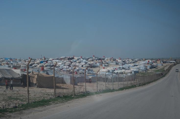 Vista del campamento de Al-Hol, gobernación de Al-Hasakah, noreste de Siria.