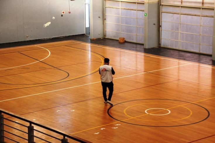 El centro deportivo antes de ser transformado en el hospital de respuesta al COVID-19 en Sudáfrica.