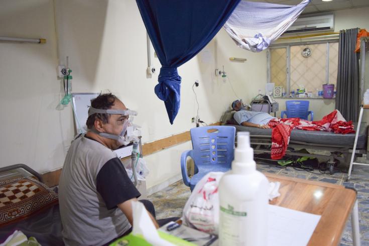 Desde julio de 2020, los equipos de Médicos Sin Fronteras han estado ayudando en la unidad de cuidados respiratorios (UCR) brindando capacitación para el personal.