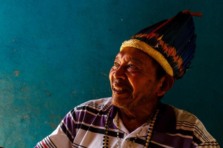 Un líder indígena clave que nos ayudó con el proyecto fue Jacir de Souza, ex director del consejo indígena local de Roraima y un actor importante en su lucha por los derechos territoriales.