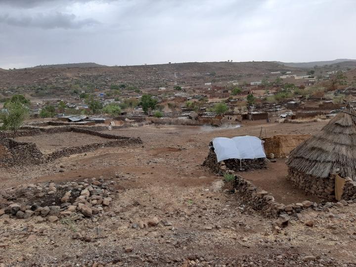 Vista de la ciudad de Rokero, Jebel Marra, Darfur, en Sudán.