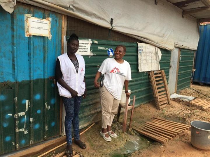 Margaret y una compañera en Bentiu, Sudán del Sur.