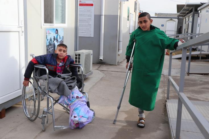 Cuidado postoperatorio en Mosul, Irak.