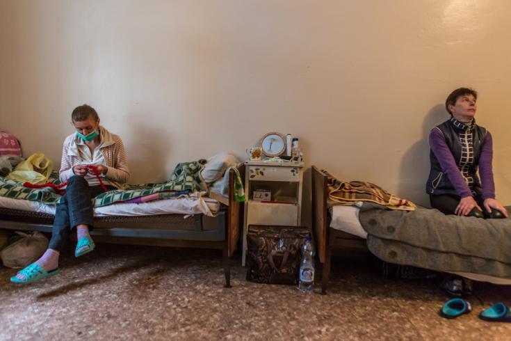 Pacientes con tuberculosis en Ucrania