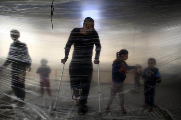Palestinos heridos en la Franja de Gaza
