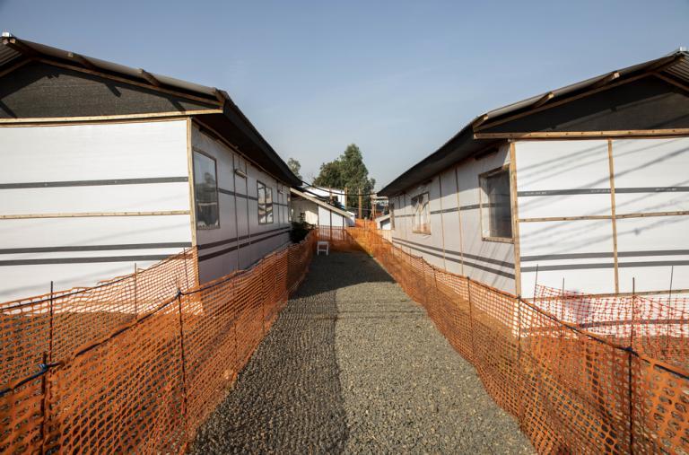 Vista general del Centro de Tratamiento de Ébola en Bunia.