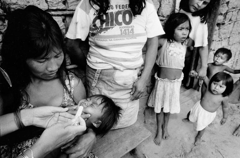 Un instante durante la campaña de vacunación.
