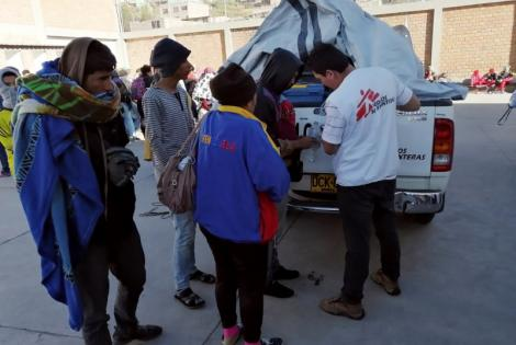 Médicos Sin Fronteras apoyó a la población migrante venezolana en la frontera entre Colombia y Ecuador.