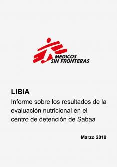 Informe sobre los resultados de la evaluación nutricional en el centro de detención de Sabaa (carátula)