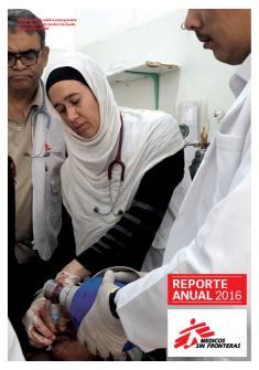 Tapa del reporte anual 2016 de Médicos Sin Fronteras