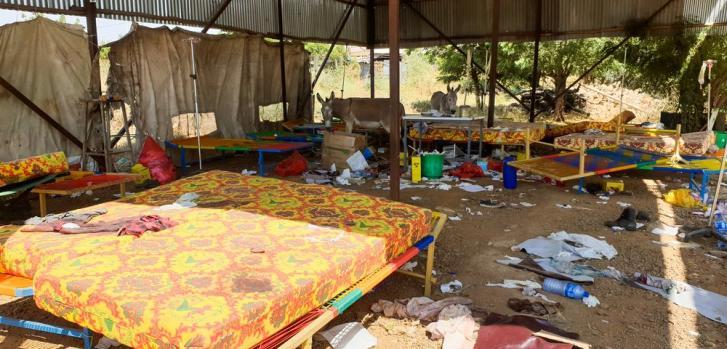 La escena con la que se encontró el personal de MSF a su llegada al Hospital de Humera el 15 de noviembre después del estallido del conflicto en Tigray. El Hospital fue abandonado y el personal y los pacientes huyeron tras el estallido de violencia.
