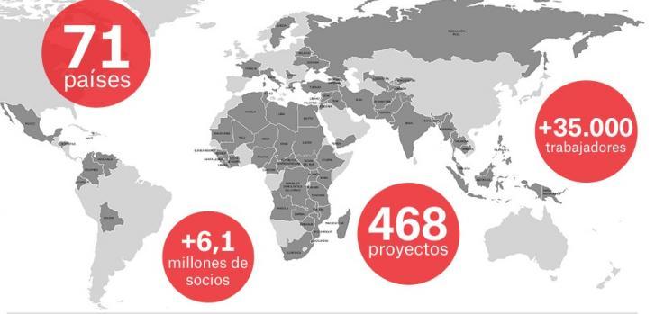 Mapa de actividades resumen 2016 de Médicos Sin Fronteras en el mundo
