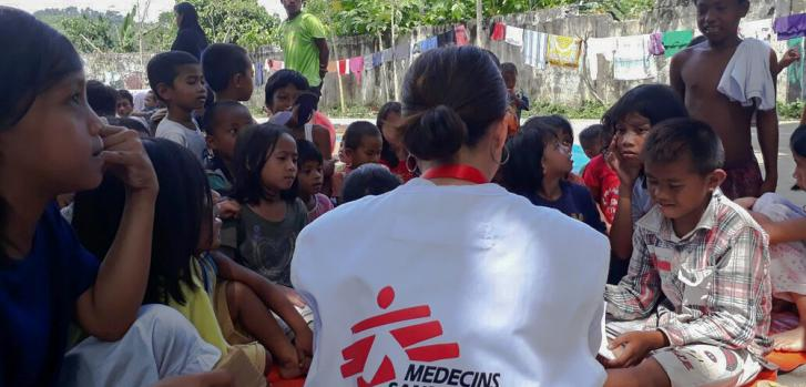 Médicos Sin Fronteras realiza sesiones de juego con los niños como parte de sus actividades de salud mental y apoyo psicosocial. ©MSF