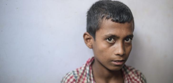 Mohammad Idriss, de 11 años, es paciente de la clínica Kutupalong en Cox's Bazar. ©Ikram N'gadi