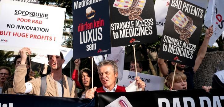 Protesta en Munich contra la decisión de la Oficina Europa de Patentes.