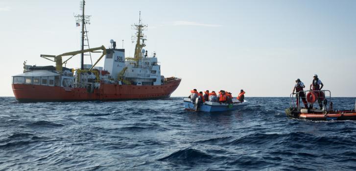 Búsqueda y rescate en el Mar Mediterráneo
