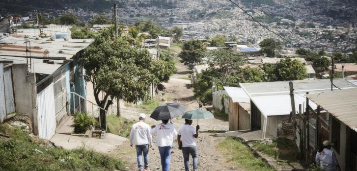 Parte del equipo de Médicos Sin Fronteras en Tegucigalpa, Honduras.