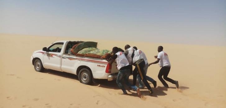 Dirkou es una de las localizaciones de la región de Agadez, en Níger, donde operamos clínicas móviles para asistir a personas en tránsito y comunidades vulnerables.